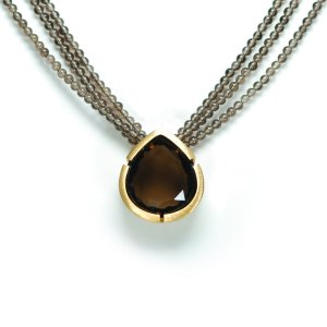 Lindenau Quartz Necklace Yellow Gold Plated