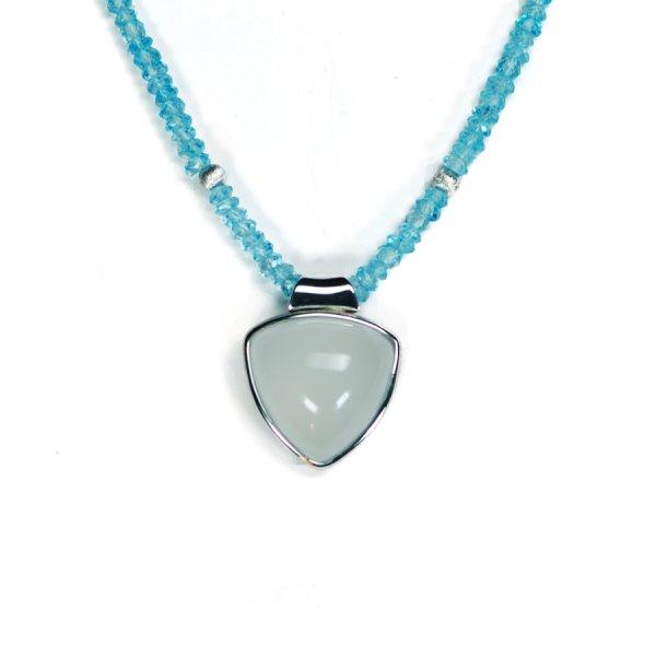 Lindenau Quartz Aquamarine Necklace