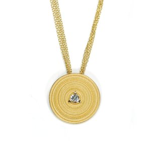 Lindenau Necklace Yellow Gold Plated Rock Crystal