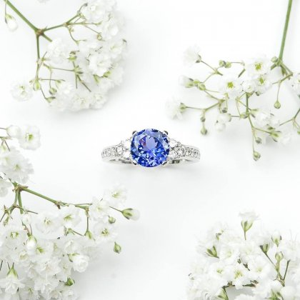 Diamond Tanzanite Ring, ROSH, jewellers, bespoke, ring, dress ring