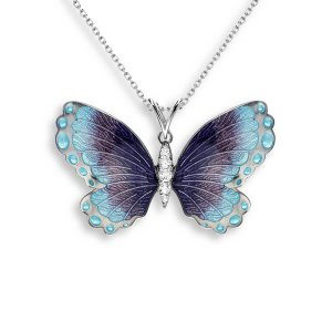 Nicole Barr Silver Butterfly Necklace