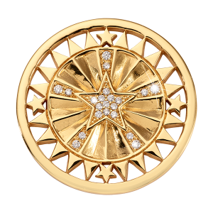 Nikki Lissoni Medium Coin WANDERLUST STAR Yellow Gold