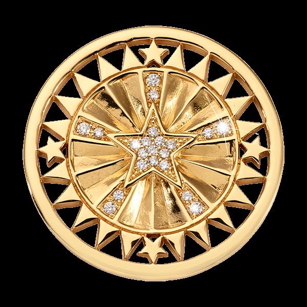 Nikki Lissoni Medium Coin WANDERLUST STAR Yellow Gold