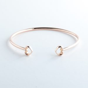 ROSH Jewellers LOVE Bangle 9ct Rose Gold