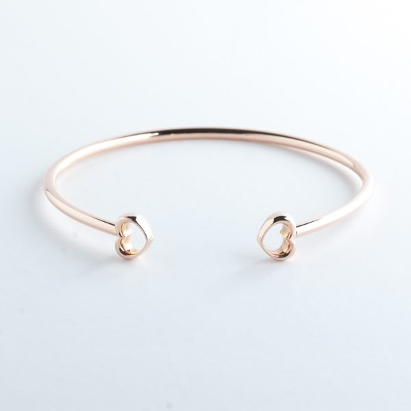 ROSH Jewellers LOVE Bangle 9ct Rose Gold
