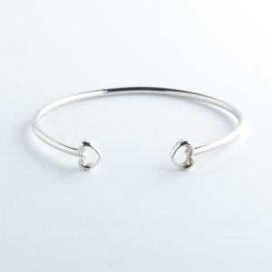 ROSH Jewellers LOVE Bangle 9ct White Gold