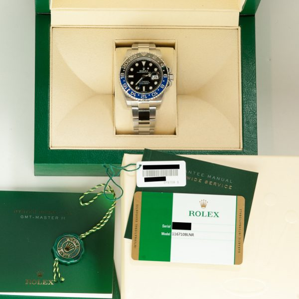 Rolex GMT 116710BLNR BATMAN BOX
