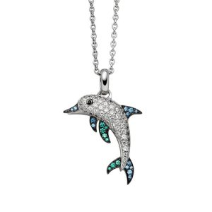 Viventy Sterling Silver Dolphin Pendant