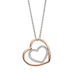 Viventy Sterling Silver Pendant Hearts