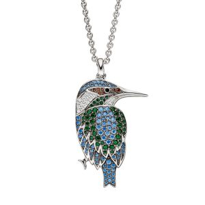 Viventy Sterling Silver Kingfisher Pendant
