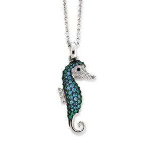 Viventy Sterling Silver Seahorse Pendant