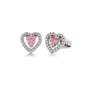 Viventy Sterling Silver Heart Stud Earrings