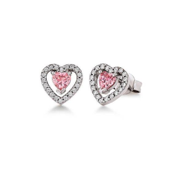 Viventy Sterling Silver Heart Stud Earrings