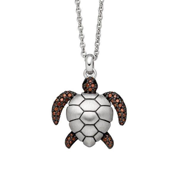 Viventy Sterling Silver Turtle Pendant