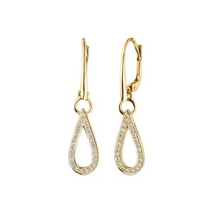 Viventy Yellow Gold Plated Modern Earrings