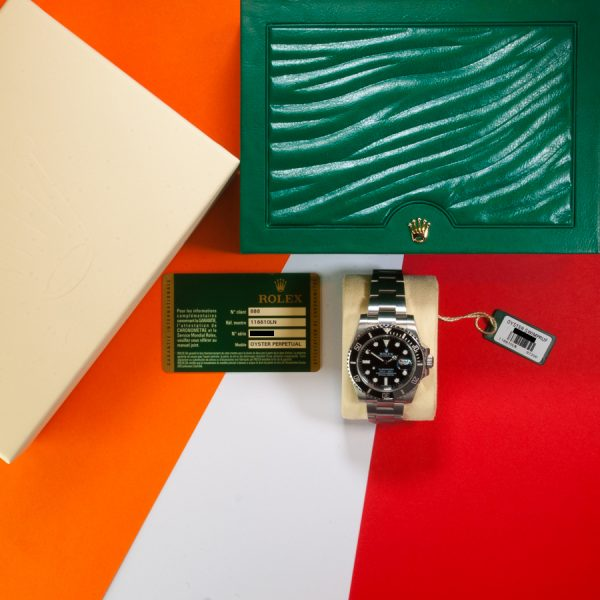 ROSH29051 ROLEX SUBMARINER 116610LN BOX AND PAPERS