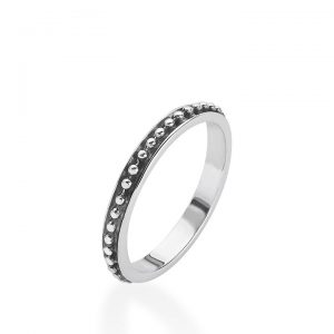 Linda Macdonald Silver Spotty Ring 31030